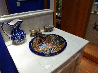 Hand Painted Bathroom Sink Mexico