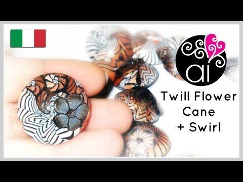 "Millefiori Cane Tutorial | Polymer Clay | Murrina Fiore ""Spigato""| DIY Etno Swirl Beads - YouTube"