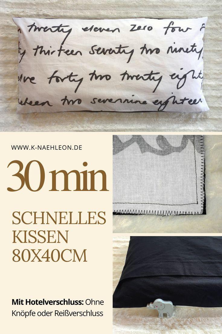 Einfaches Kissen In 80x40cm Nahen Ohne Knopfe Oder