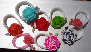 flower silicon rings
