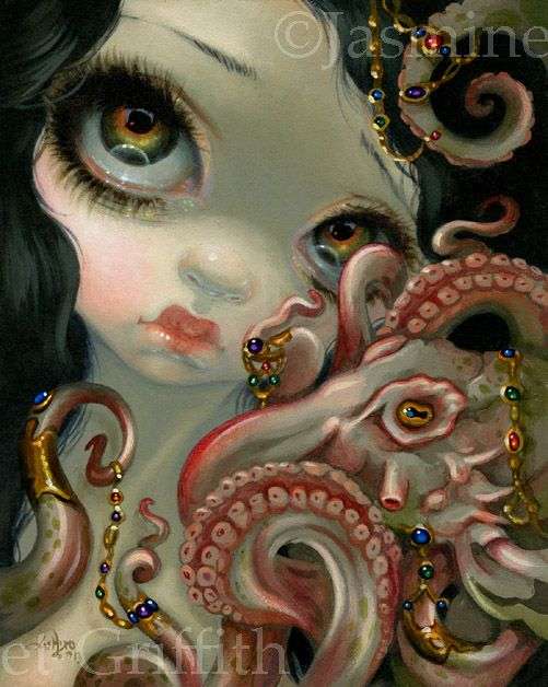 Jeweled Octopus - Strangeling: The Art of Jasmine Becket-Griffith