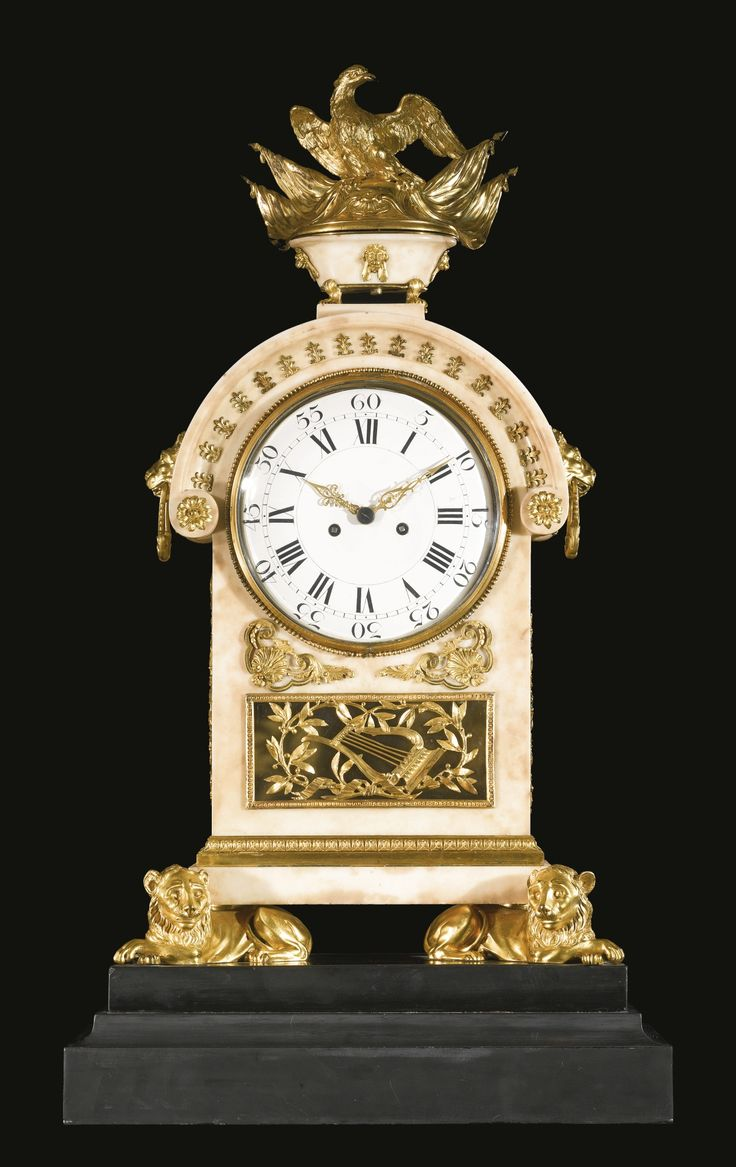An Italian Neoclassical ormolu-mounted white marble mantel clock, attributed to the workshop of Luigi and Guiseppe Valadier Rome, circa 1780-1785 | Lot | Sotheby's