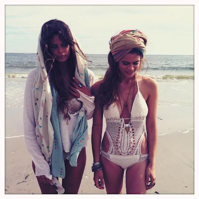 crochet swimwear: Boho Chic, Head Wraps, Beaches Life, Swimsuits, Hippie Style, Wedding Beaches, White Suits, Bath Suits, Swim Suits