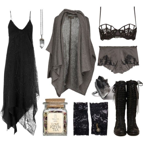 you are my favourite background noise by n-nyx on Polyvore featuring Yves Saint Laurent, Religion Clothing, Carine Gilson, La Perla and ASOS