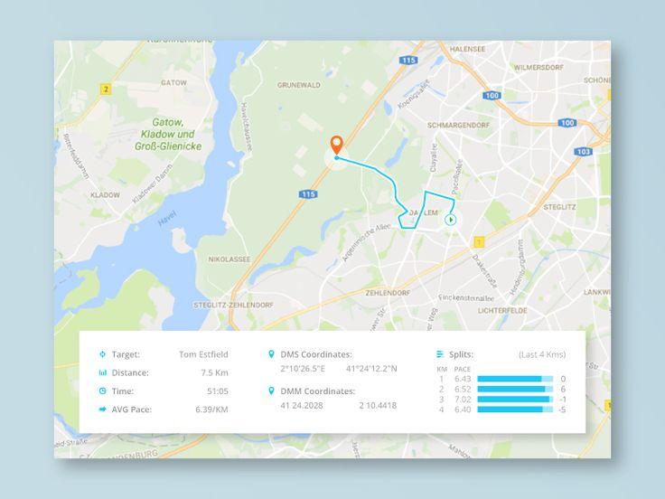 Running Location Tracker #DailyUI #UI #020  Location Tracker