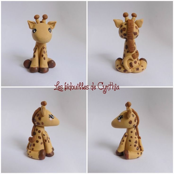 Girafe fimo                                                                                                                                                                                 Plus