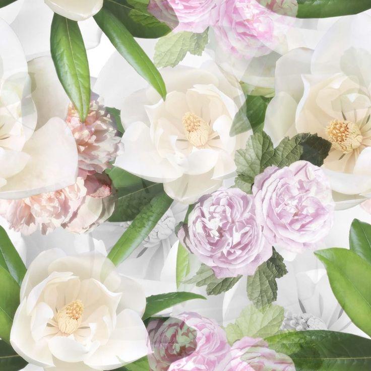 Bomuldsjersey - smukke romantiske blomster