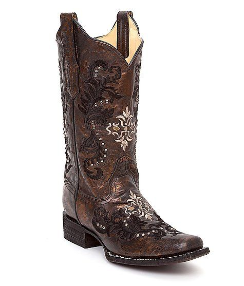 Stylish Square Toe Cowgirl Boots