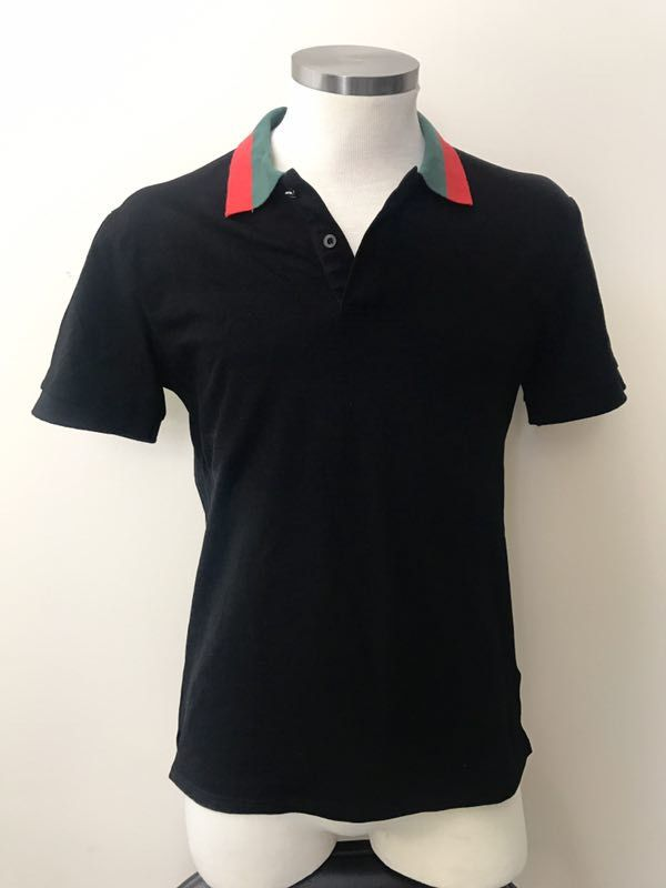 3fa30a26152 Gucci Polo Shirt with Men Black Red and Green Collar Shirt S M L XL XXL   fashion  clothing  shoes  accessories  mensclothing  shirts (ebay link)