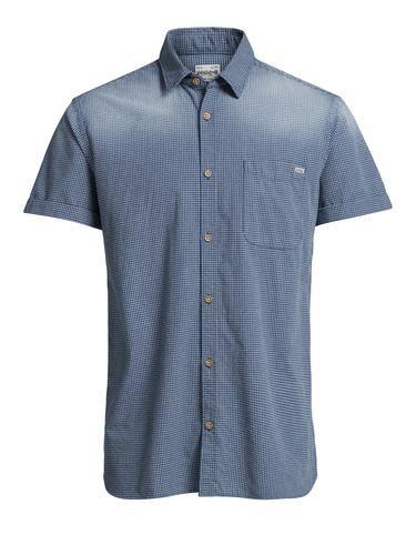 - Regular-Fit-Hemd mit kariertem Micro-Webmuster - Reine Baumwolle – weich und atmungsaktiv - Mit Seitenverstärkungen und Kontrastnahtdetails - Das Model trägt Größe L und ist 187 cm groß - JACK & JONES VINTAGE CLOTHING