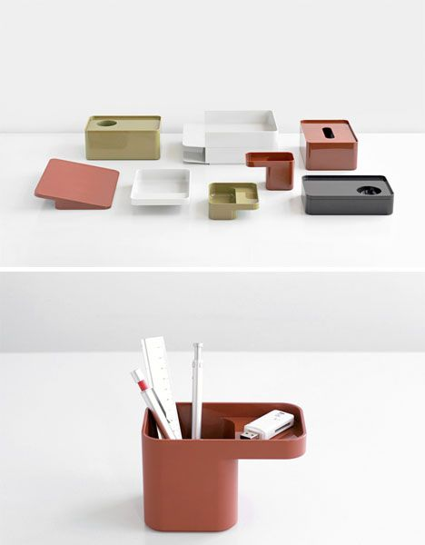 Formwork: Modern Modular Desk Organization Accessories