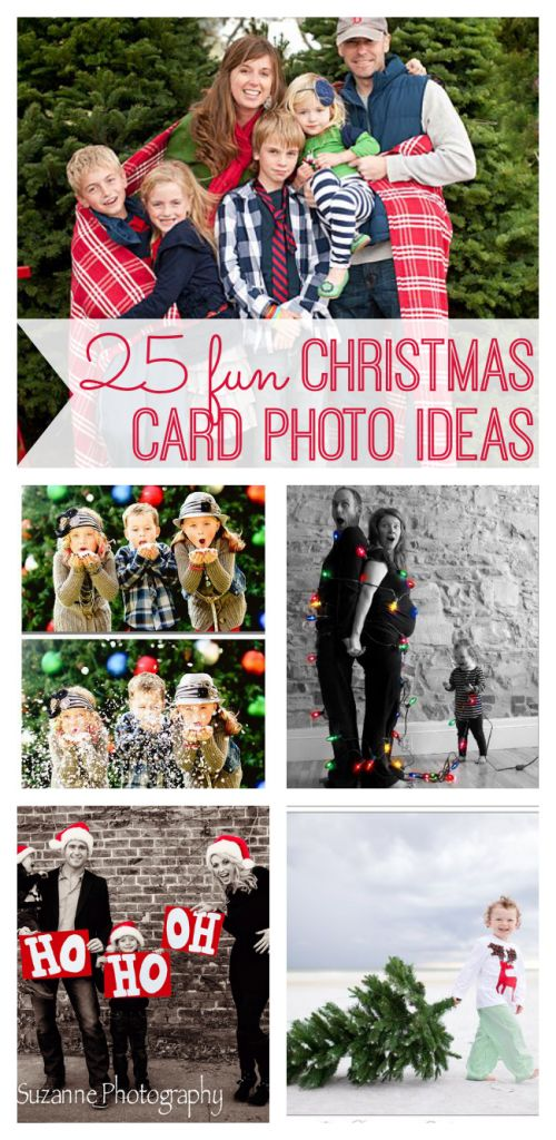 The holidays are a time to bring family together. What better way to spread holiday cheer than with these original family Christmas card photo ideas.