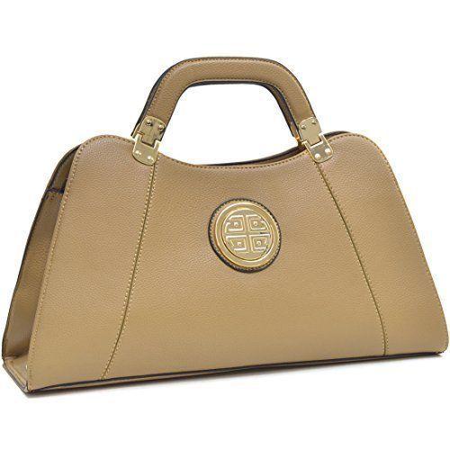 Womens Handbag Shoulder Bag Faux Leather Sand Fashion Elegant Daily Gift NEW  #WomensHandbagShoulderBag