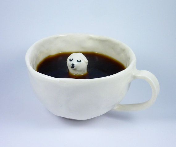 Porcelain Dog Cup by EleonorBostrom on Etsy, kr350.00