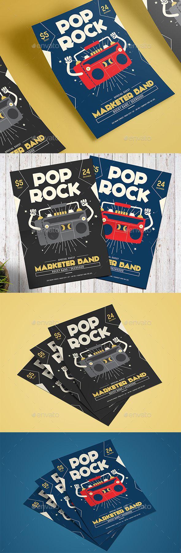 Pop Rock #Flyer - #Events Flyers Download here: https://graphicriver.net/item/pop-rock-flyer/19523885?ref=alena994