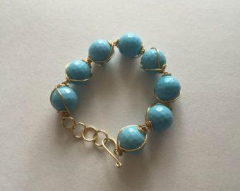 Blu bracciale in oro bracciale blu stile Sundance gioielli