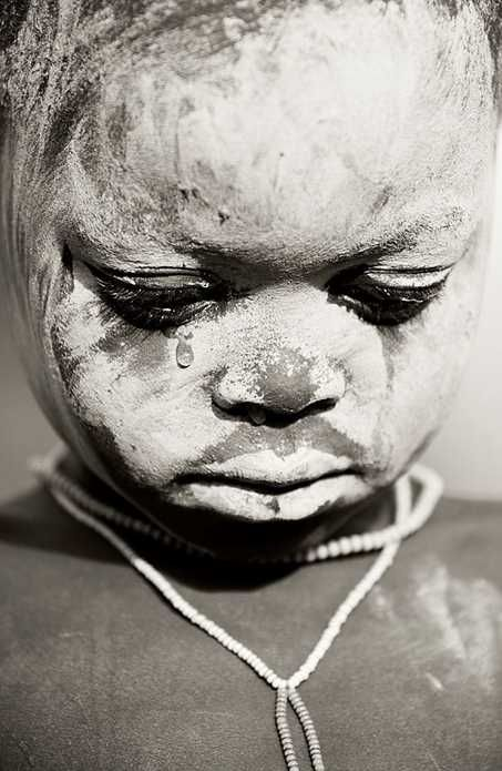 "Africa | ""The tear"". Surma child. Omo Valley, Ethiopia 