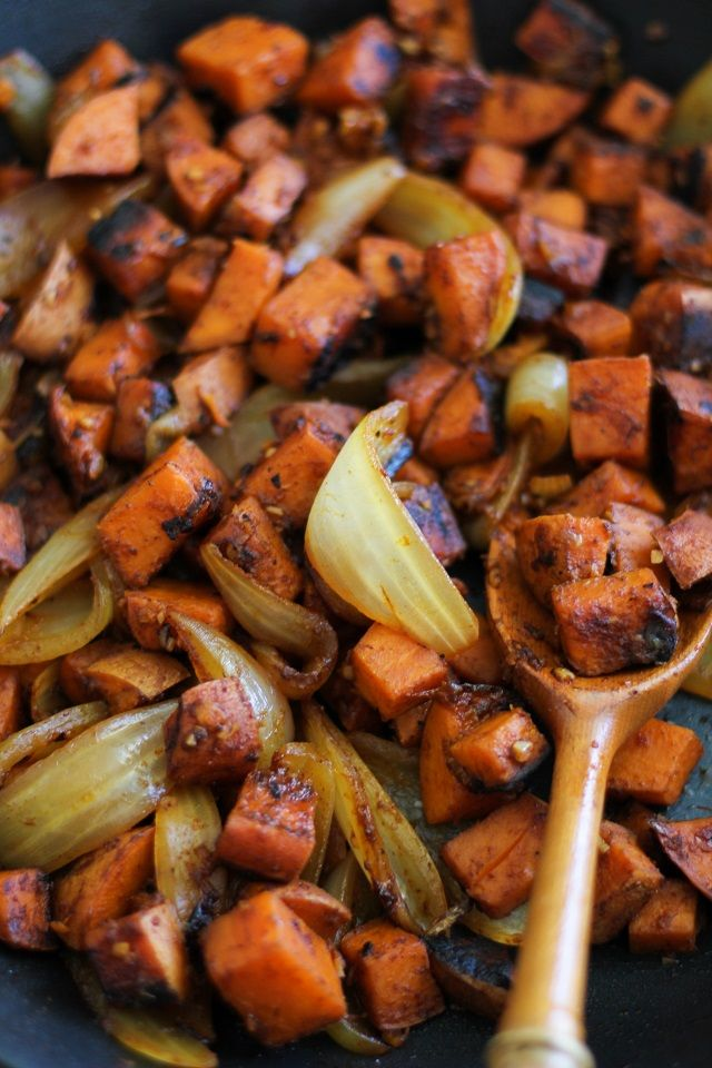 Sweet Potato Home Fries - a healthier version of the classic breakfast dish