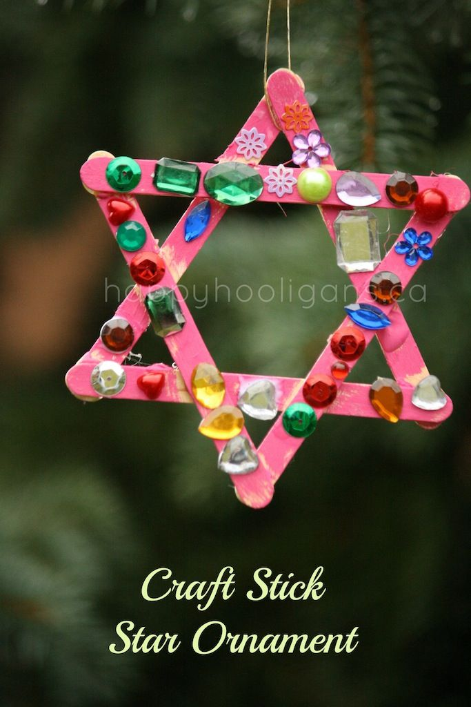 "Another craft stick star ornament ("",)"