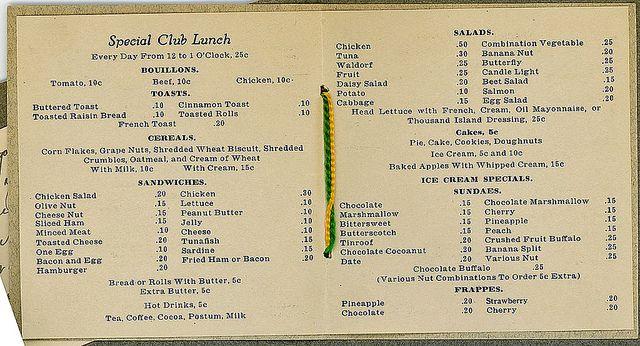 26 Best 1920s Restaurants Amp Menus Images On Pinterest