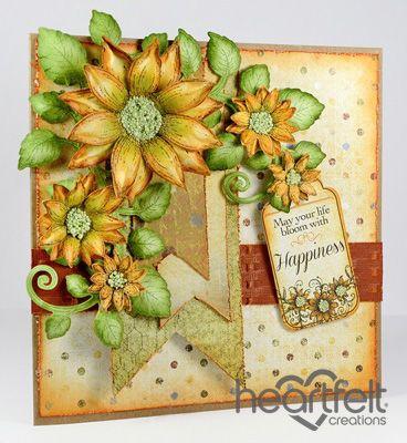 Heartfelt Creations | Happy Blooming Sunflowers