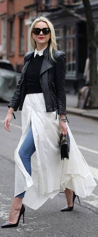 Layers Upon Layers / Fashion Look By Blaire Eadie - Lose the sweater and the collar and adjust length and I love this!!