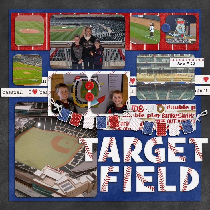 baseball scrapbook pages - Google Search