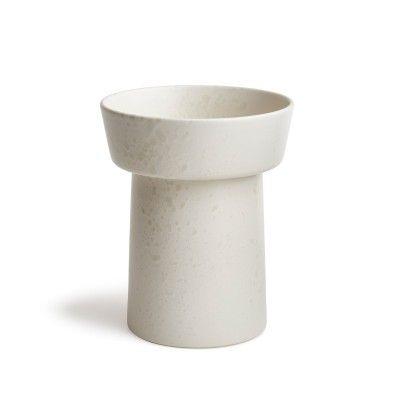 Kahler Ombria Vase Marmor Hvit H200