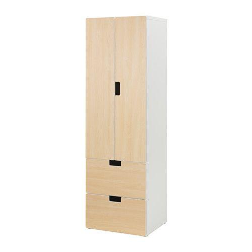 IKEA - STUVA, Aufbewkomb.+Türen/Schubladen, weiß/Birke, , Türen mit integriertem Stopper für langsames, geräuschloses Schließen.Als offene und geschlossene Aufbewahrung - zum Zeigen oder Verbergen persönlicher Gegenstände.Durch Türen und Schubladenfronten in verschiedenen Farben wirken Aufbewahrungskombinationen persönlich.Mit dem STUVA GRUNDLIG Einrichtungszubehör lassen sich Dinge ganz einfach verwahren, weglegen, ordnen und zeigen.Steht dank höhenverstellbarer Fußkappen auch auf unebenen…