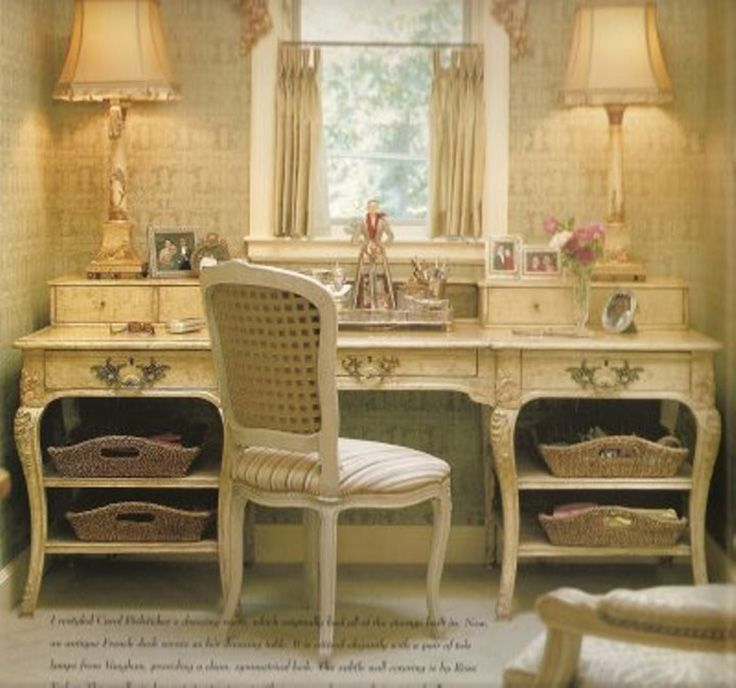 A Country French Styled Furniture Piece From A Tulsa Home By Charles  Faudree. Used In This Home As A Vanity / Dressing Table.
