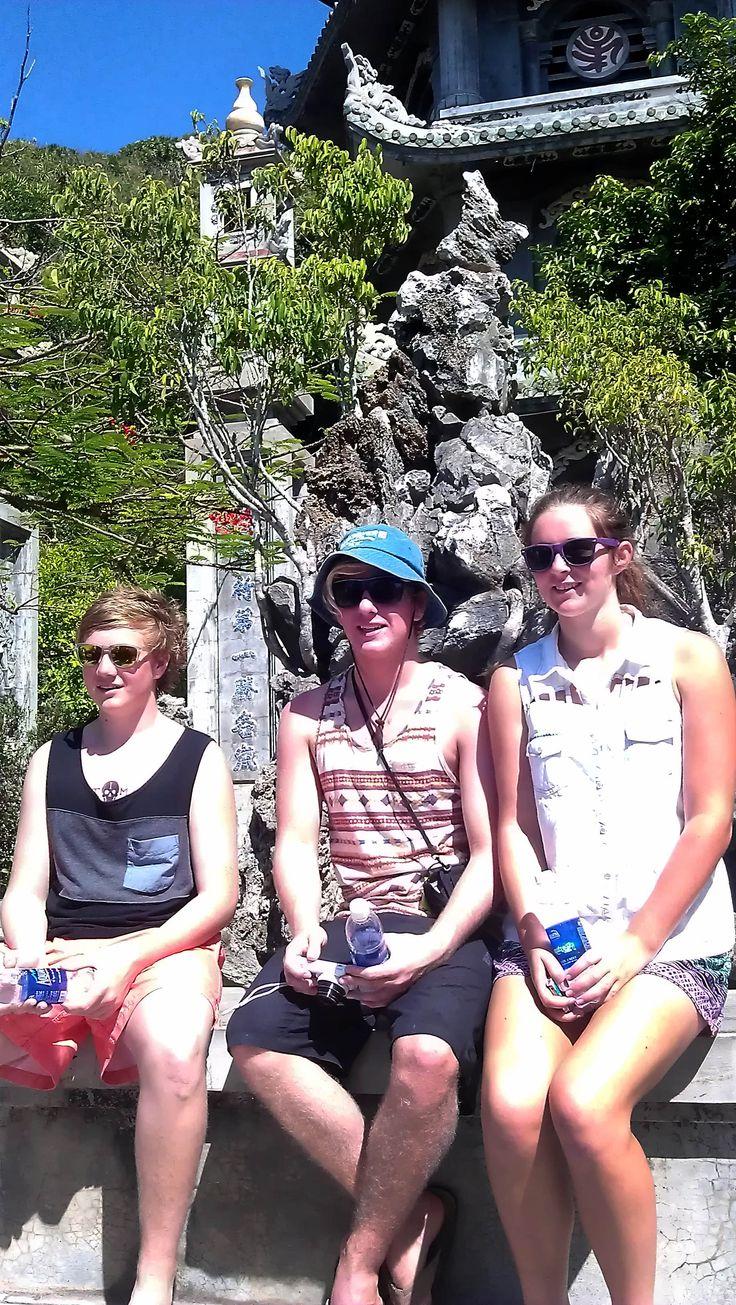156 steps to the summit! #MarbleMountain #DaNang #VietnamSchoolTours