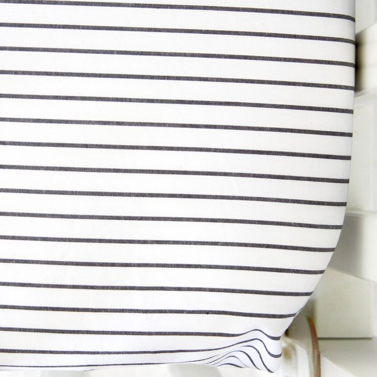 Dark Gray Chambray Stripe Crib Sheet