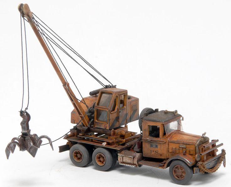 1 87 Scale Weathered Mack Bm Scrapyard Crane Weathered