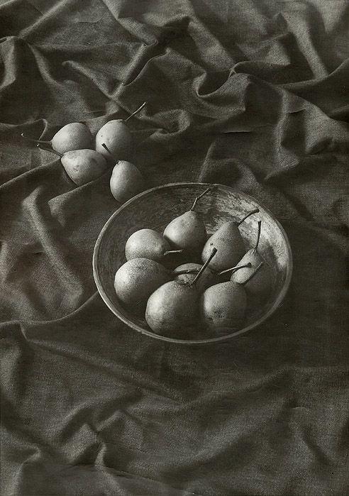 Jan Svoboda(Czech, 1934-1990)  Still Life with Pears   1970s  Silver print