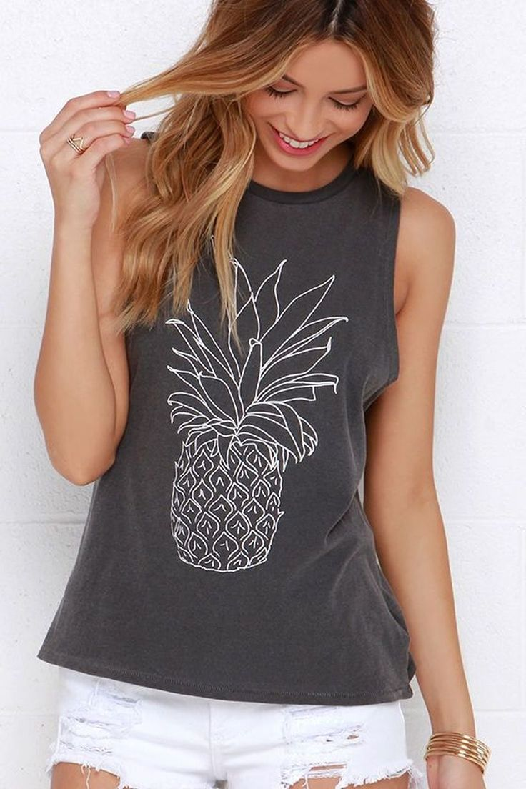 Cute Pineapple Tank Top that Should You Have https://fasbest.com/cute-pineapple-tank-top/