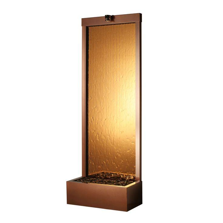 Have to have it. BluWorld Gardenfall Garden Water Fountain-Bronze Mirror/Dark Copper Frame $316.00