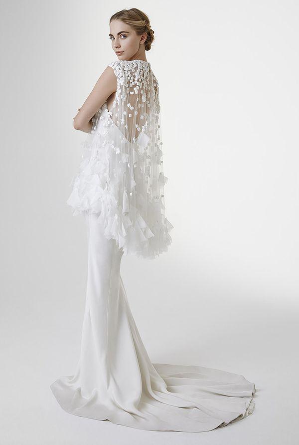 Beautiful and original wedding dress. Amazing back.