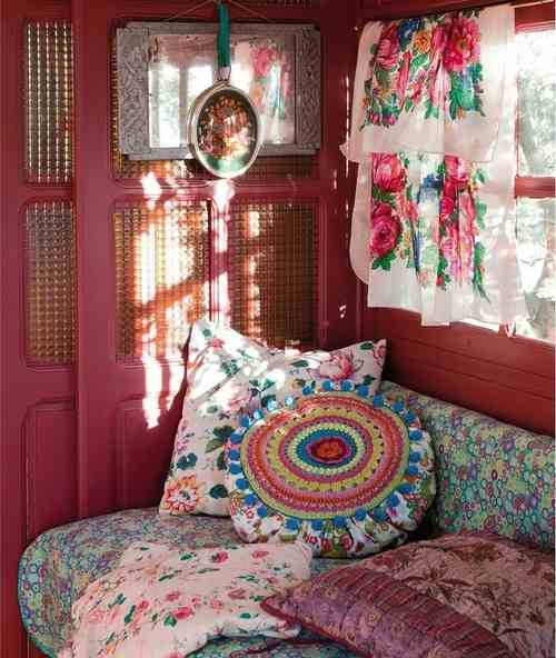 Hippy and boho pink