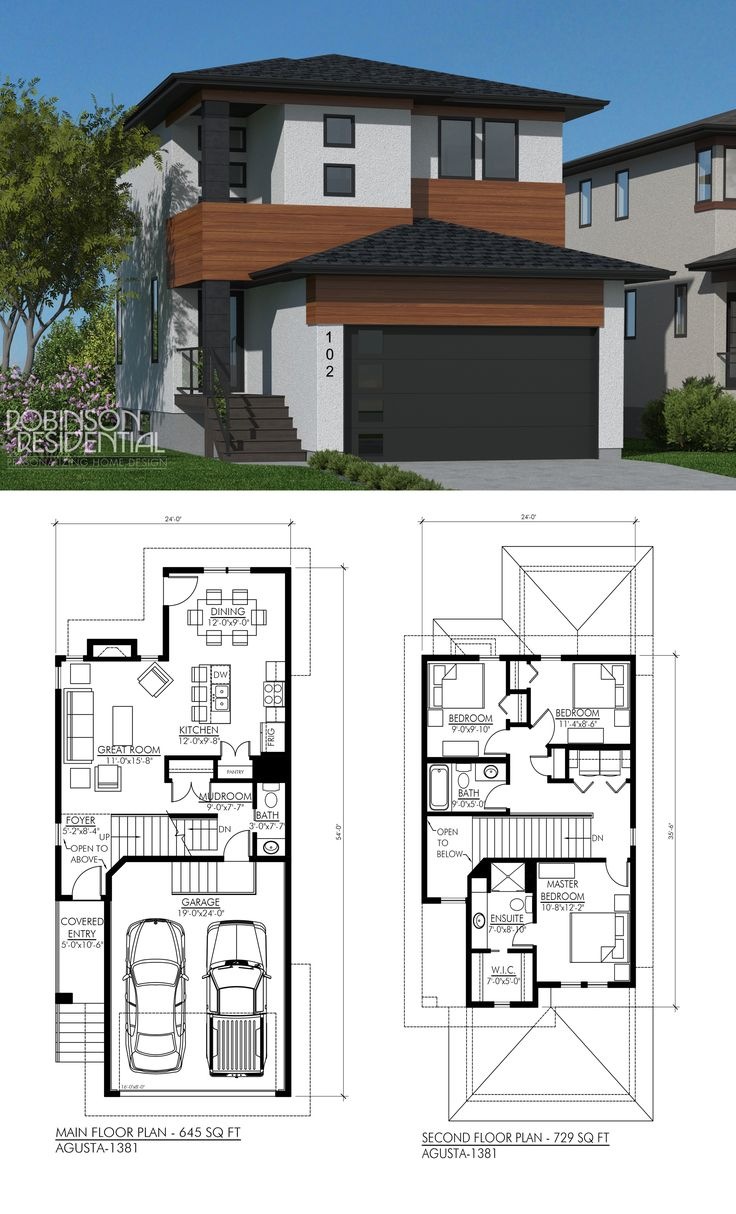 2672 Best Narrow Lot Compact House Plans Images On Pinterest