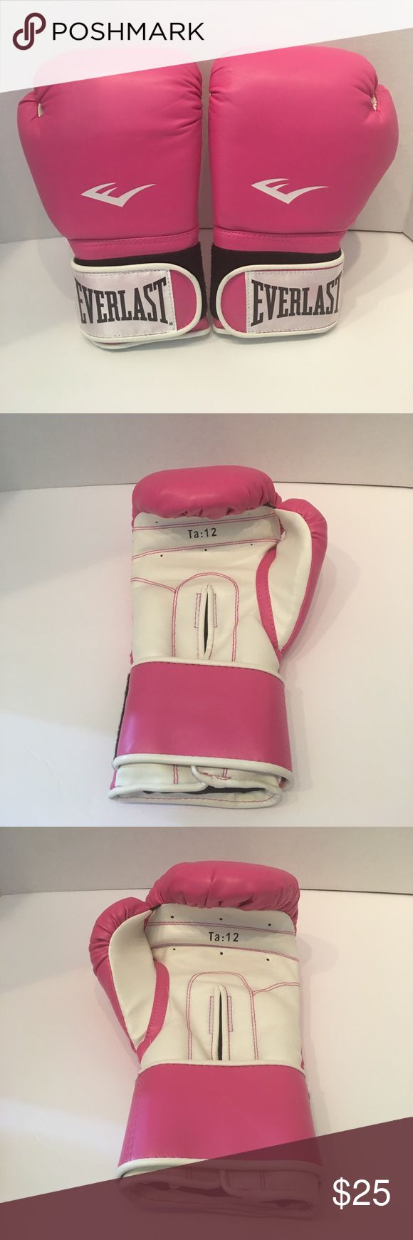 AMAZING NWT LADIES PINK EVERLAST BOXING GLOVES!! BEAUTIFUL NEW PINK BREAST CANCER AWARENESS LADIES EVERLAST BOXING GLOVES! HELP KNOCK OUT CANCER!! SIZE 12 EVERLAST Accessories Gloves & Mittens
