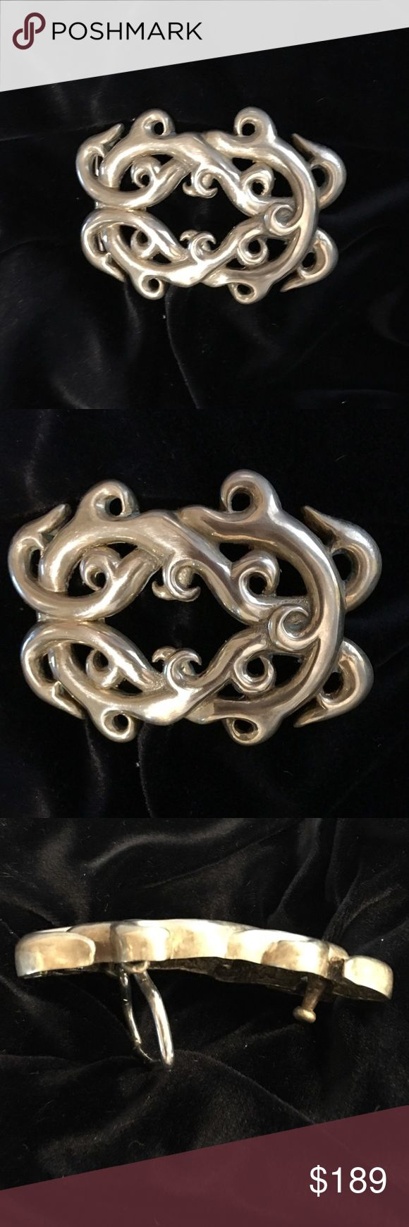 Custom Made Celtic Knot Solid Brass Belt Buckle The Celtic knot on this solid brass buckle is an intricate rendering of the renowned endless knot. These beautiful knots have no beginning nor end; an ancient symbol of many things... most of all, LOVE. Even carved into ancient chastity belts! custom-made & hand-carved (from wax, then cast in solid brass). Belted, this one-of-a-kind buckle is hot with women's jeans and striking on a man in a kilt. Stunning on... I've been asked if it was made…