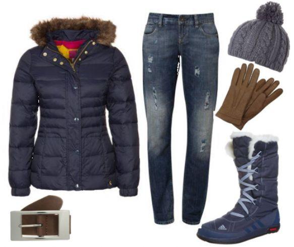 Mørkeblå vinter - #Joules #HILLIER #Dunjakker, #adidas #Performance #CHOLEAH #LACEUP #Vinterstøvler, #Cross #Jeanswear #KAYLEE #Jeans #Relaxed #Fit