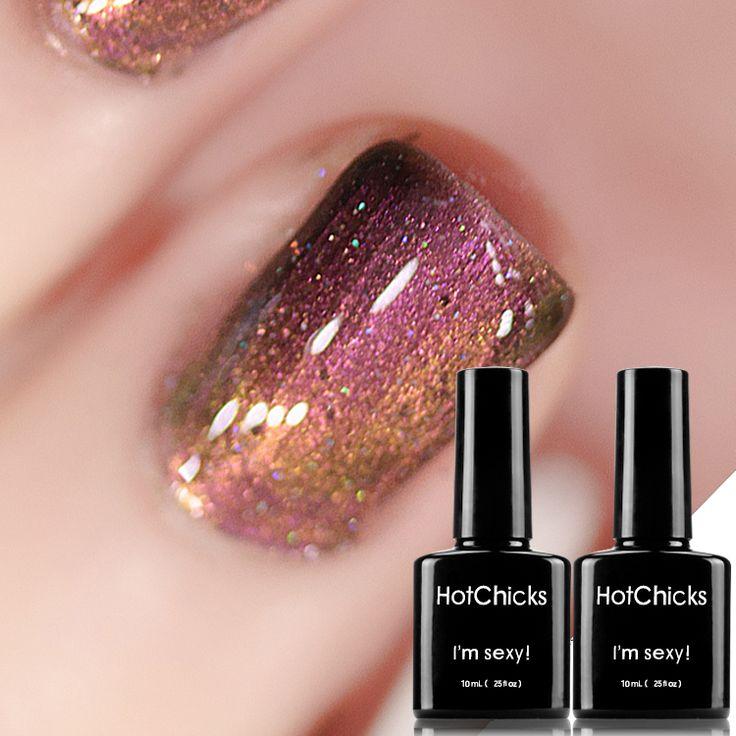 HOT CHICKS Nail gel polish with shining colorful gel lacquer professional long-lasting LED Lamp soak off UV Gel varnish #Affiliate