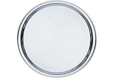 Heirolin pyöreä 30 cm terästarjotin monenlaisille tarjoiluille. Ajaton klassikko, kestävä ja helppo pitää puhtaana. Käsinpesu.