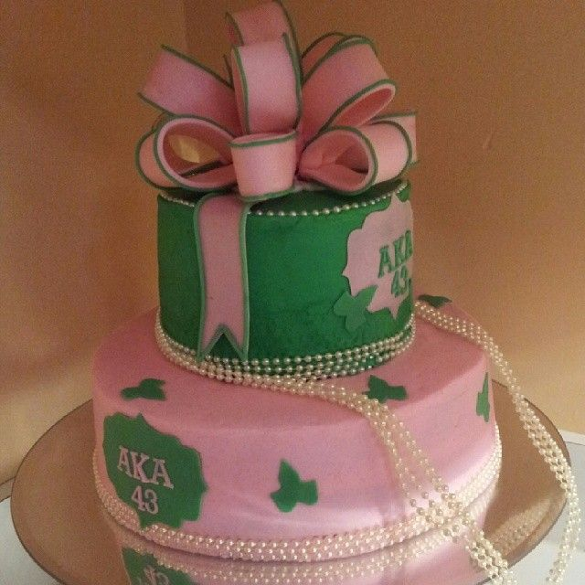 Cake Designs Jackie Brown Croydon : 34 best images about AKA Cakes on Pinterest Aka sorority ...