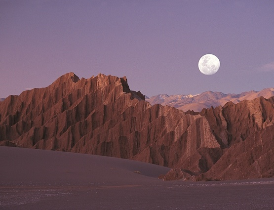 Atacama Desert, Moon Valley (The Atacama desert spans through four countries: Chile, Peru, Bolivia and Argentina.  In the center of it is the driest place on Earth)
