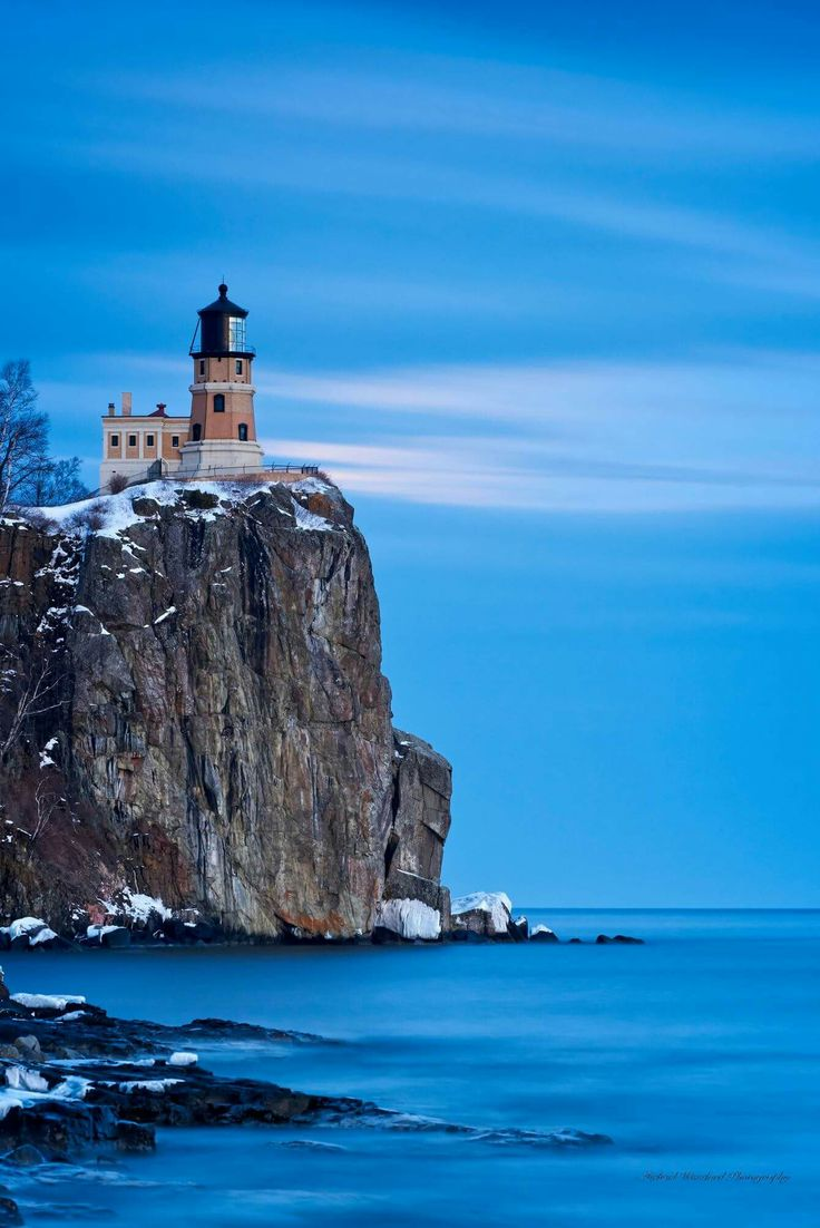 What's a trip to the north shore without a visit (or two or three) to Split Rock Lighthouse.  This evening we were going for the full moon, but clouds moved in just minutes before the moon was to peek above the cliff.  Mother nature, toying with us!! 2/18/17.  Photo by Michael Woodard Photography