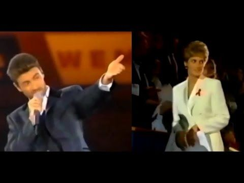Princess Diana & George Michael at Concert Of Hope for AIDS Charity (Dec...