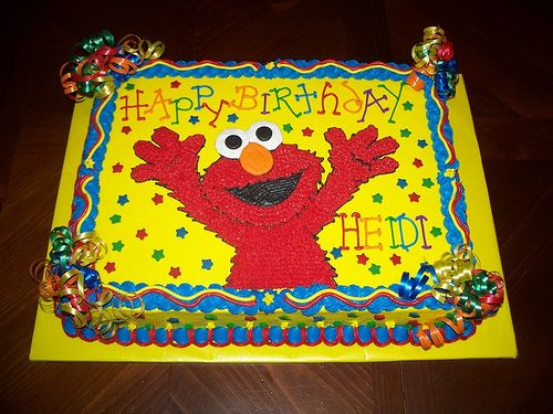 B is saying he wants his 3rd b-day to be Elmo themed. Things could always change between now and then but I like this idea for his cake!