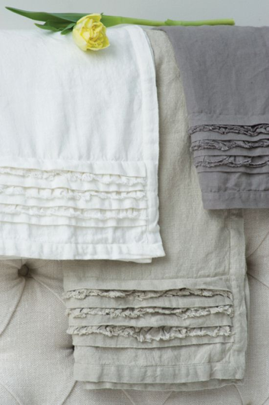 Remember the towel I saw, with ruffle strips on the diagonal.  Each ruffle was two layers.